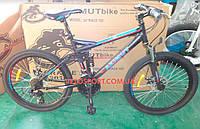 Горный велосипед Azimut Race 26 GD черно-голубой