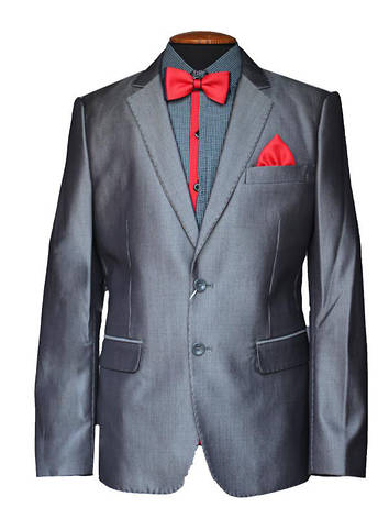 Підлітковий шкільний костюм для хлопчика 160-164 зросту світлий з відливом, фото 2