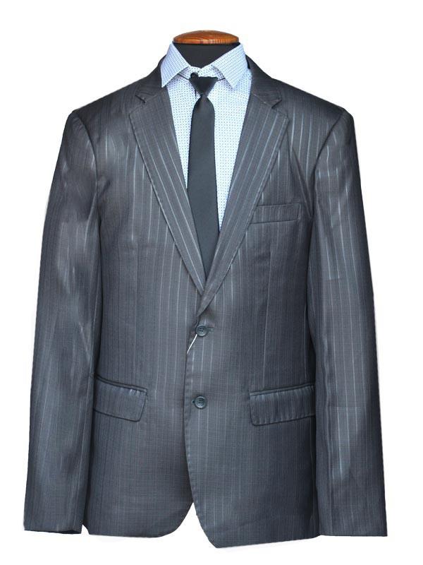"""Подростковый школьный костюм для мальчика """"Депутат"""" черный в широкую полоску"""