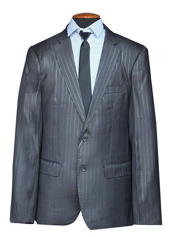 """Подростковый школьный костюм для мальчика """"Депутат"""" черный в широкую полоску, фото 2"""