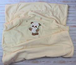 Двойной плед одеяло с вышивкой  75Х100 см (вельсофт+флис) Панда