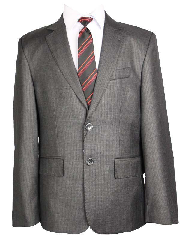 Шкільний костюм для хлопчика 146 зросту сірий в дрібну смужку