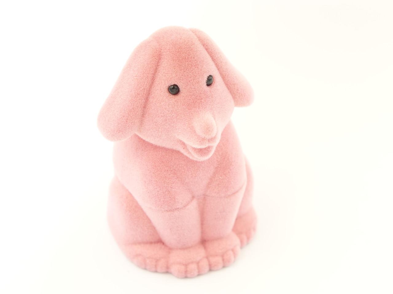 Футляр для кольца Собака розовая
