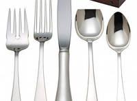 Эксклюзивные столовые приборы из серебра - комплект на 8 человек