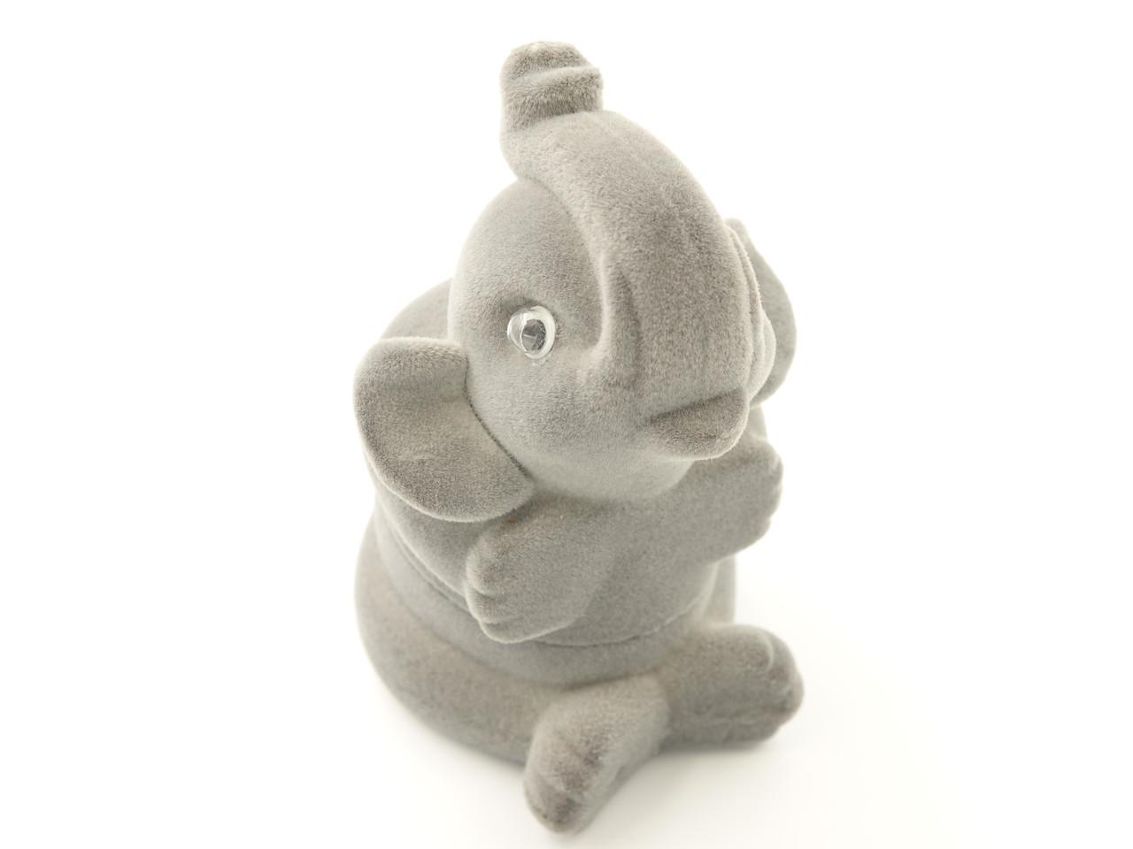 Футляр для кольца Слон серый