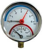 Термоманометр с клапаном ∅ 1/2, фото 3