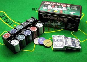 Покерный набор на 200 фишек+сукно