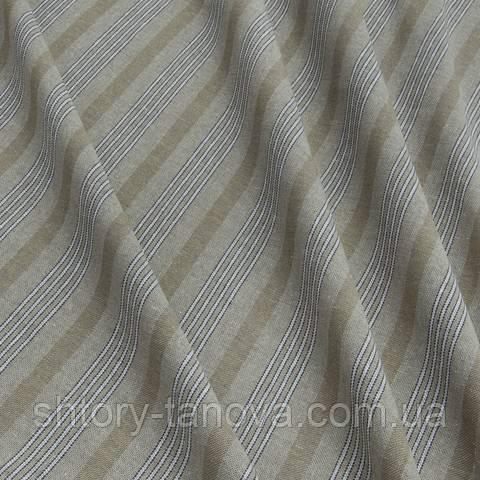 Декоративная ткань для штор, полосы, бежевый