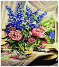 "Картина по номерам ""Цветы на столе"" 40х50 см 001"