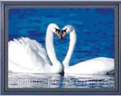 "Картина по номерам ""Лебеди"" 084"