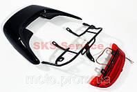 Пластик спойлер с креплением +фонарь спойлера комплект  на скутер Honda DIO AF-28
