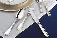 Набор столовых приборов из серебра 24 штуки - по 6 человек