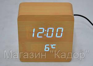Настольные часы с синей подсветкой VST-872-5, фото 3