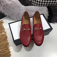 Женские туфли из натуральной кожи Gucci