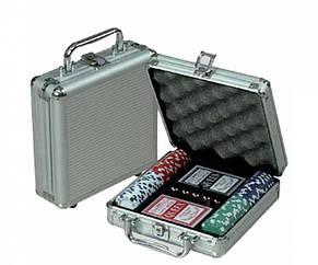 Покерный набор в кейсе Professional Poker 100 фишек, фото 3