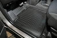 Коврики в салон для Volkswagen Transporter T5 '10- Multivan, второй ряд, резиновые, черные (AVTO-Gumm)