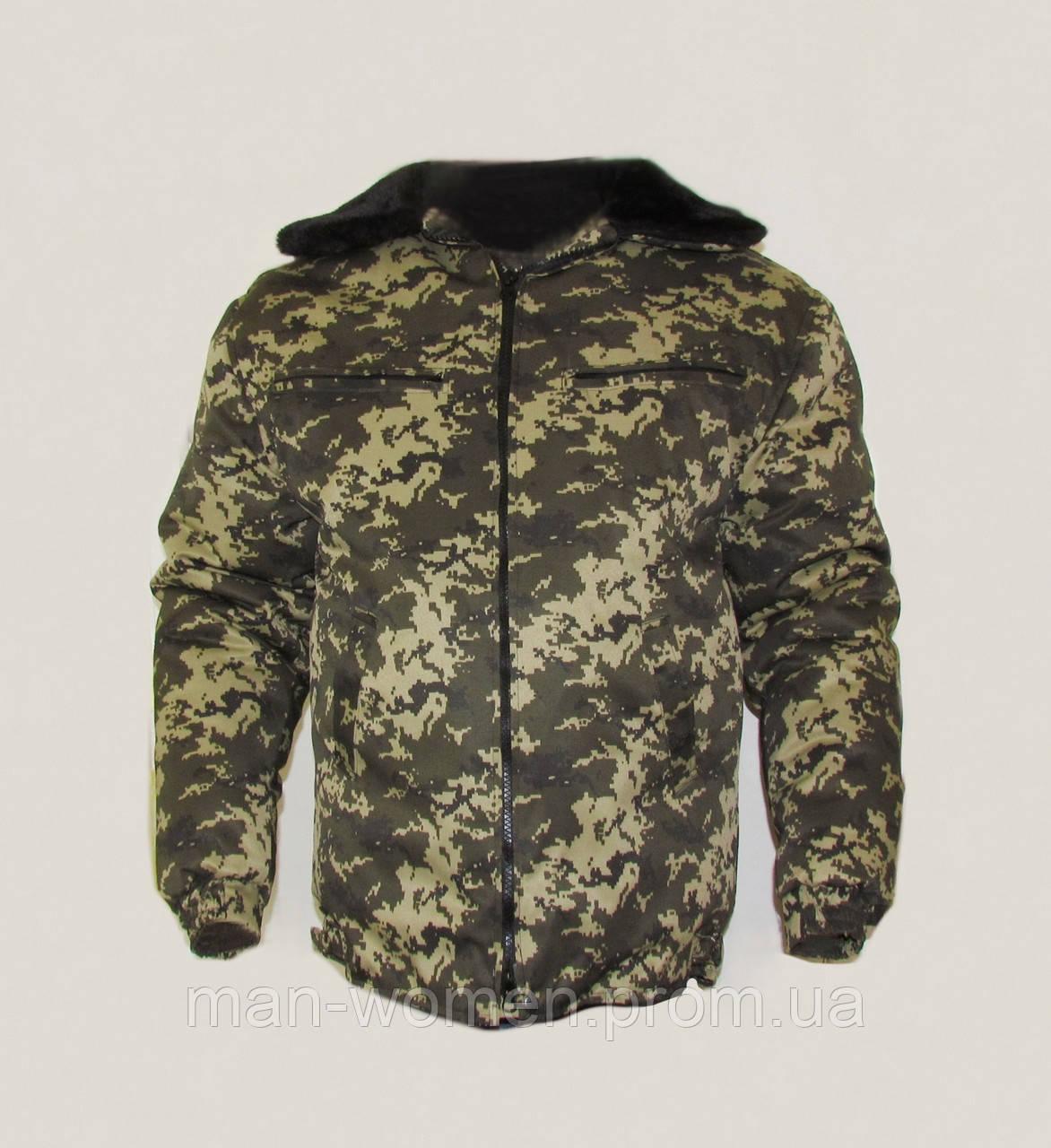 БУШЛАТ! Куртка камуфлированная. Утеплённая. Цифра пограничная. Украина