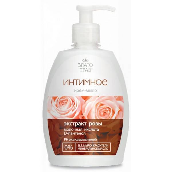 Крем-мыло Интимное Экстракт розы Злато трав 330 мл