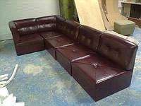 Угловой диван =ТРАНСФОРМЕР= состоящий из пуфов 700х700мм, мягкая мебель для дома