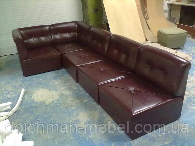 купить угловой диван трансформер состоящий из пуфов 700х700мм