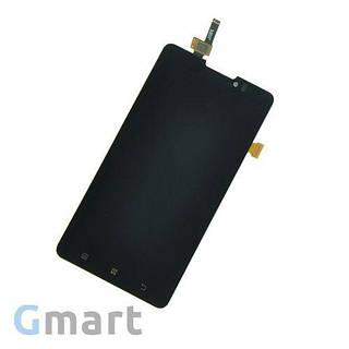 Дисплей Lenovo P780 черный (LCD экран, тачскрин, стекло в сборе)
