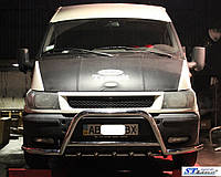 Кенгурятник с усами WT003-Plus (нерж.) - Ford Transit 2001-2014 гг.