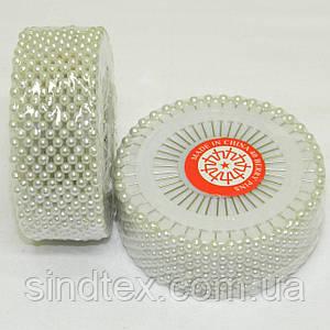 Портновские швейные булавки белые с шариком (иглы для закалывания)