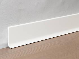 Металлический плинтус Profilpas Metal Line 90/6 крашеный матовый алюминий, белыйRAL9010 10х60х2000 мм.
