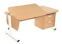 Детская парта растишка стол трансформер Pondi / Понди Школьник с тумбой из ДСП