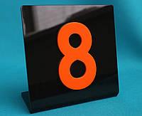 Табличка на стол черная, фото 1