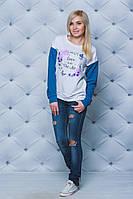 Кофта женская с печатью джинс, фото 1