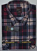 Мужская байковая (фланелевая) рубашка (размеры 44,45)
