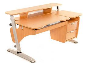 Детская парта растишка стол трансформер Понди Эргономик с тумбой из ДСП, фото 3