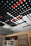 Пирамидальное грильято потолок,  ячейка 60х60 мм , цвет белый RAL 9003, фото 3