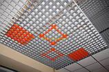 Пирамидальное грильято потолок,  ячейка 60х60 мм , цвет белый RAL 9003, фото 4