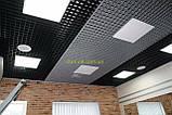 Пирамидальное грильято потолок,  ячейка 60х60 мм , цвет белый RAL 9003, фото 5