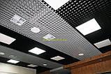 Пирамидальное грильято потолок,  ячейка 60х60 мм , цвет белый RAL 9003, фото 7