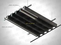Кубообразная рейка ширина профиля 35 мм белый/серый/черный высота -85 мм