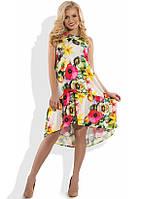 Красивое летнее платье с цветочным принтом Д-1087