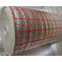 Изоляционный материал ламинированный с разметкой НПЭ – толщина полотна 2 мм.