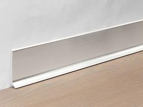 Металевий плінтус Profilpas Metal Line 90/4 анодироованный алюміній, срібло сатин 10*40*2000 мм.