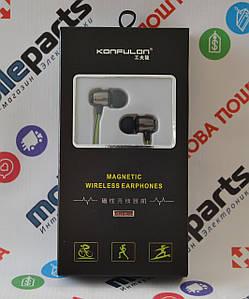 Беспроводные Наушники Konfulon BHS-05 (Bluetooth) (Черно-зеленые)