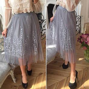 Легкая летняя фатиновая юбка, фото 2