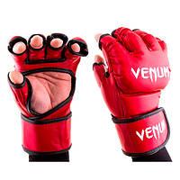 Перчатки для смешанных единоборств ММА Venum VM364 (красный)