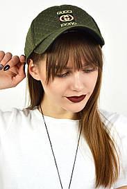 Женская кепка Gucci хаки