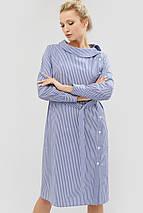 Полосатое хлопковое платье с поясом из основной ткани (Itan crd), фото 3
