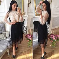 Модная летняя фатиновая юбка