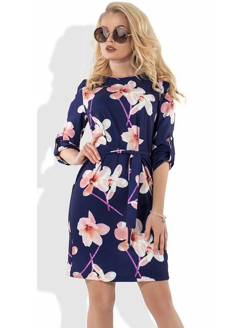 Платье на лето с цветами Д-1090