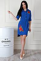 Платье-рубашка с кармашками