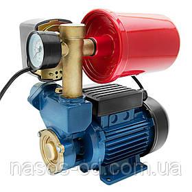 Насосная станция гидрофор Wetron для воды 0.37кВт Hmax30м Qmax35л/мин (вихревой насос) 1л (776010)